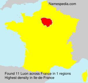 Familiennamen Luon - France