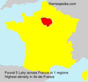 Surname Lyky in France