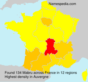 Surname Mabru in France
