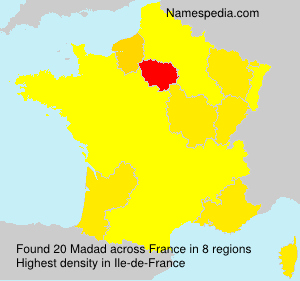 Familiennamen Madad - France