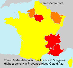 Surname Maddaluno in France