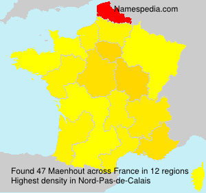 Surname Maenhout in France