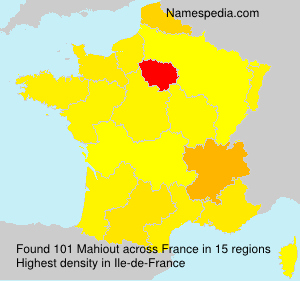 Surname Mahiout in France