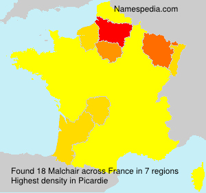 Surname Malchair in France