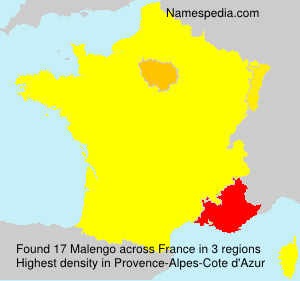 Surname Malengo in France