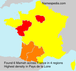 Surname Mamah in France