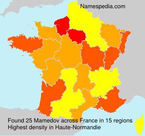 Familiennamen Mamedov - France