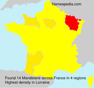 Surname Mandelaire in France