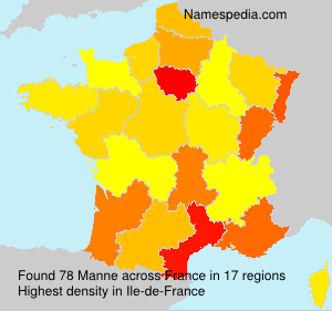 Surname Manne in France