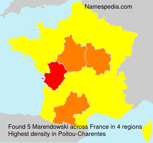 Surname Marendowski in France