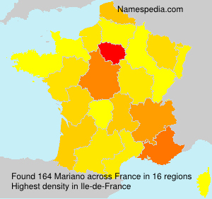 Surname Mariano in France