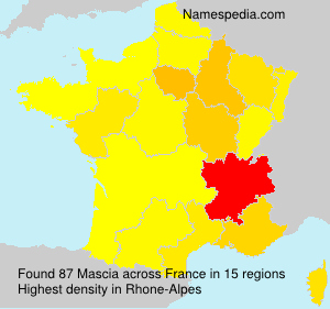 Surname Mascia in France