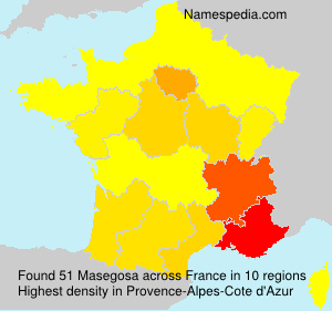 Surname Masegosa in France