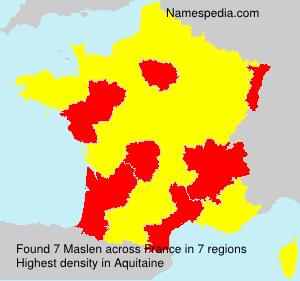 Familiennamen Maslen - France