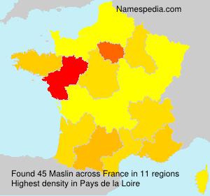 Surname Maslin in France