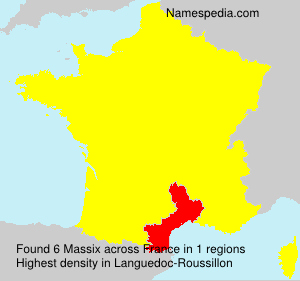 Surname Massix in France
