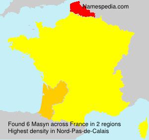 Surname Masyn in France