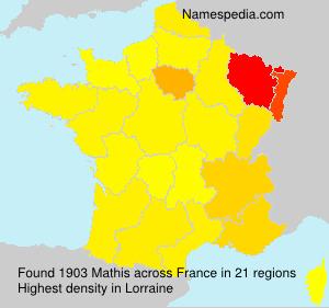 Familiennamen Mathis - France