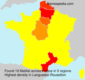 Surname Matifat in France