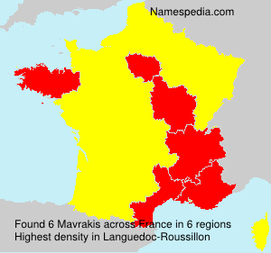Surname Mavrakis in France