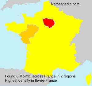 Surname Mbimbi in France