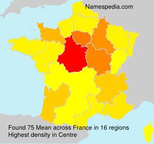 Familiennamen Mean - France