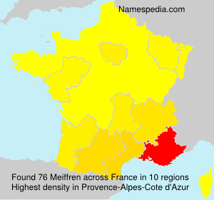 Familiennamen Meiffren - France