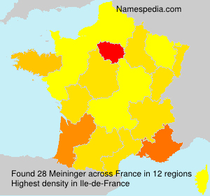 Surname Meininger in France