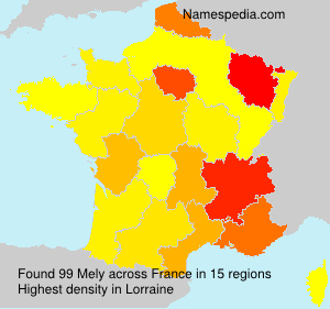 Surname Mely in France
