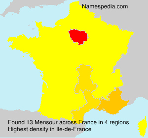 Surname Mensour in France