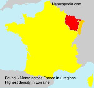 Familiennamen Mento - France