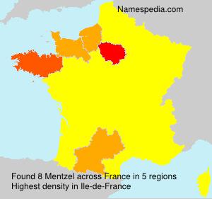 Familiennamen Mentzel - France