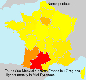 Surname Menvielle in France