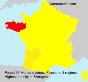 Surname Mercerie in France