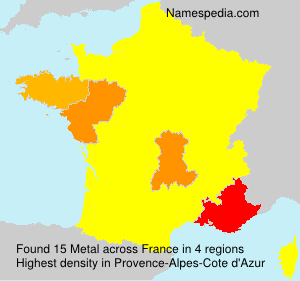 Surname Metal in France