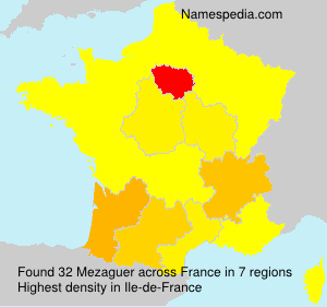 Surname Mezaguer in France