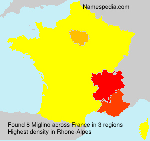Surname Miglino in France