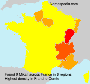 Surname Mikail in France