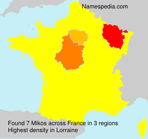 Surname Mikos in France