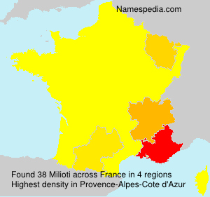 Surname Milioti in France