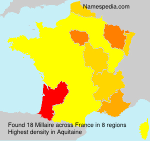 Surname Millaire in France