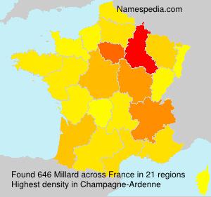 Surname Millard in France