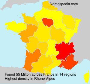 Surname Milton in France