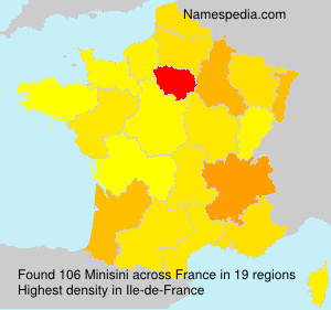 Surname Minisini in France