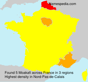 Surname Moakafi in France
