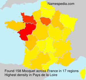 Surname Mocquet in France