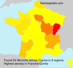 Surname Moniotte in France