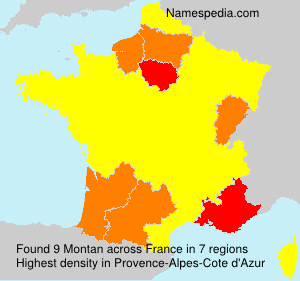 Surname Montan in France