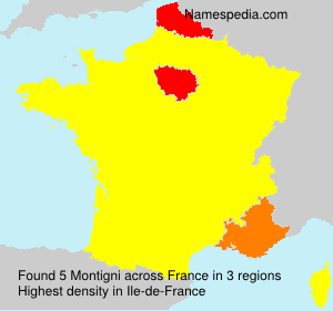 Surname Montigni in France