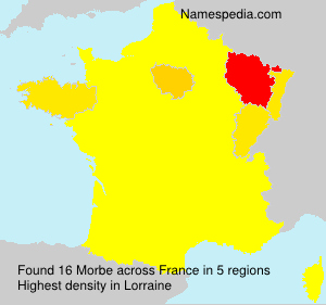 Surname Morbe in France